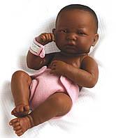 Большая кукла пупс Темнокожая девочка Berenguer 18507 36 см