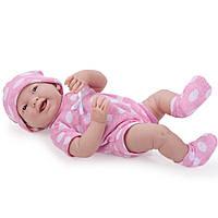 Большая кукла пупс Девочка розовый костюмчик Berenguer 18512 38 см