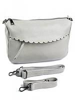 Женская сумка с фигурным карманом 7781 серая, фото 1