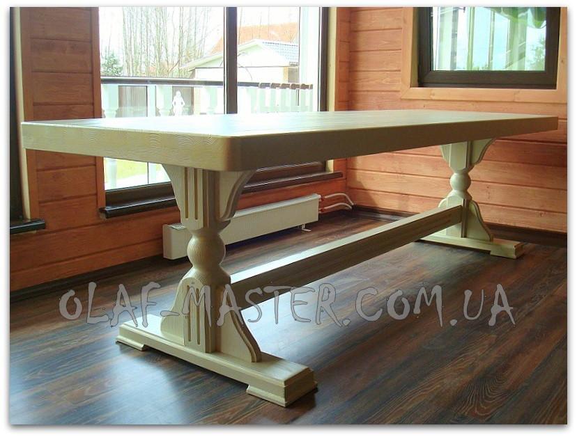 стол из массива дерева под старину 5