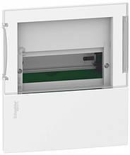 Внутренний щиток на 4 автомата MINI PRAGMA SCHNEIDER ELECTRIC ( прозрачная дверь)