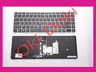 Клавіатура HP EliteBook 745 G3 745 G4 840 G3 840 G4 850 G3 850 G4 rus black silver frame підсвічування клавіш