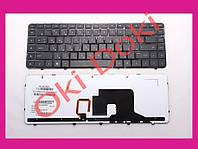 Клавиатура HP Pavilion dv6-3000 черная с черной рамкой подсветка