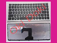 Клавиатура Lenovo S300 S400 S405 серая рамка type 3