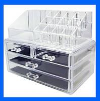 Акриловый органайзер для косметики Cosmetic Storage Box!Акция