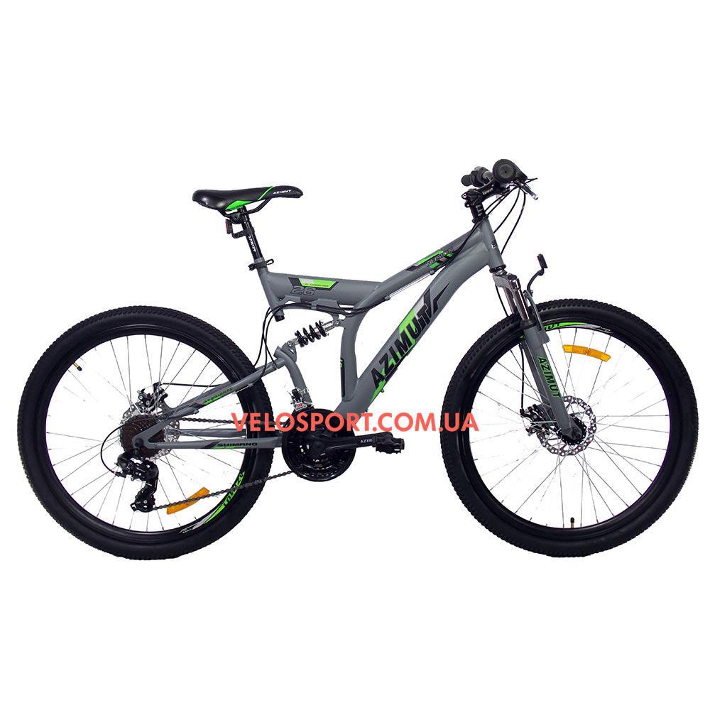 Горный велосипед Azimut Fusion 26 GD серый
