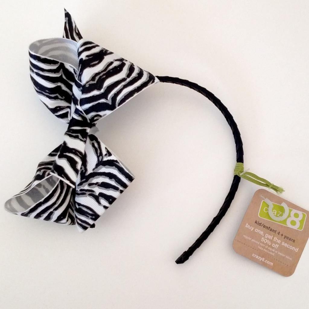 Обруч для волосся для дівчинки Зебра Crazy8 (США)