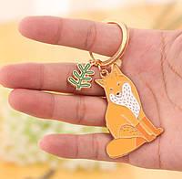 Милый брелок для ключей в форме животных «Animal» (лиса), фото 1