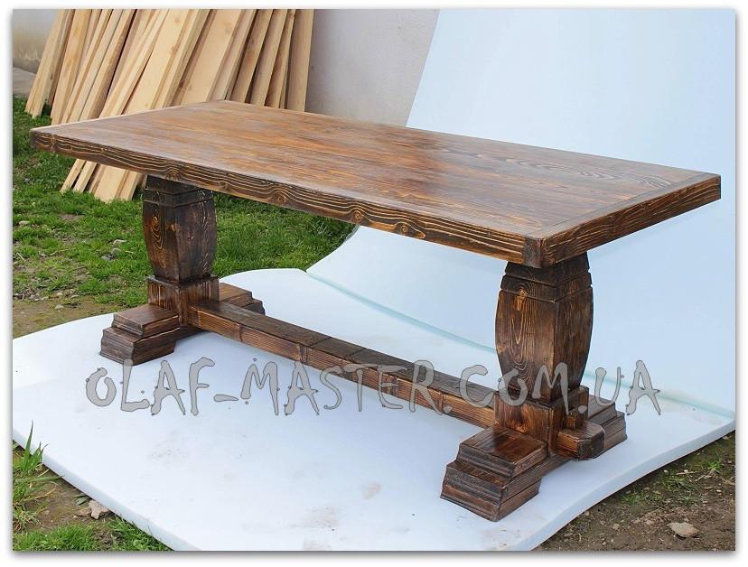 стол под старину из массива дерева 6 продажа цена в киеве столы обеденные от Olaf Master 727047233