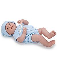 Большая кукла пупс Мальчик комбинезон в горошек Berenguer 18536 38 см