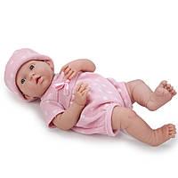 Большая кукла пупс Девочка комбинезон в горошек Berenguer 18537 38 см