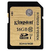 Карта памяти Kingston Ultimate SDHC 16GB Class 10 UHS-I (SDA10/16GB)