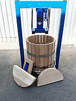 Пресс для сока 35л с домкратом, давление 10 тонн, гидравлический. Для яблок, винограда, сыра и тд.