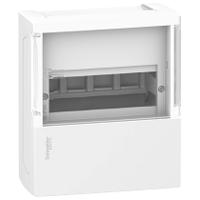 Наружный щиток на 4 автомата MINI PRAGMA SCHNEIDER ELECTRIC ( прозрачная дверь)