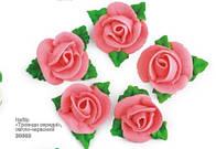 """Сахарное украшение для торта """"Розы"""" (набор из 5 шт)"""
