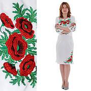 Сукня жіноча лляне СОЛОМІЯ біле з вишивкою