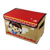 Раскладная коробка-органайзер для хранения игрушек