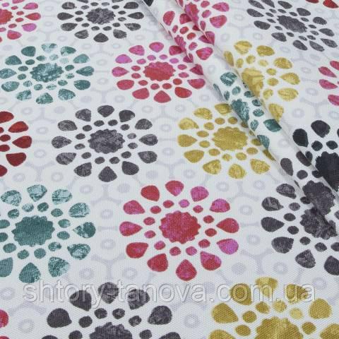 Декоративна тканина для штор з принтом мультиколор