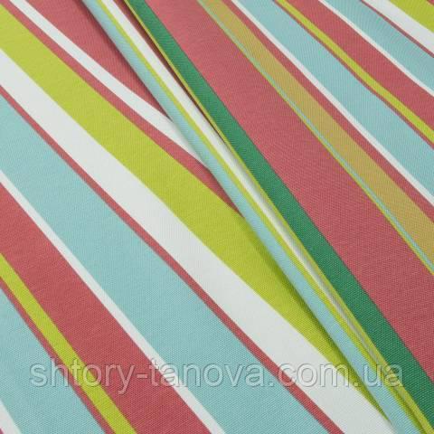Декоративна тканина для штор смуги салатово-зелений