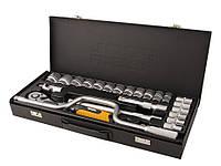 Набор инструментов 24 предмета, 1/2 дюйма, 6 граней, 10-32 мм, Mastertool 78-4125