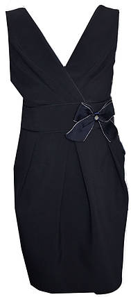 Детский школьный модный, оригинальный, красивый сарафан Алла черный, синий , фото 2