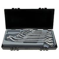 Набор ключей рожково-накидных изогнутых на 45°, 8 предметов 8-24 мм Force 5085