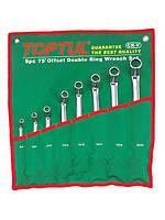 Набор ключей рожково-накидных изогнутых на 45°, 8 предметов 6-32 мм, сумка Toptul GAAA1202
