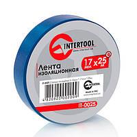 Изолента ПВХ, L-25 м, синяя Intertool IT-0025