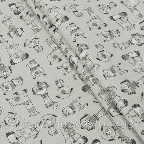 Декоративная ткань для штор, собачки