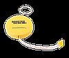 Рулетка 1,5 м метра, 7 мм Mastertool 60-0157