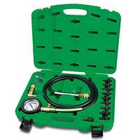 Toptul JGAI1204. 12 пр. Манометр для измерения давления масла, измеритель, набор, тестер, прибор, в двигателе, фото 1