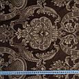 Декоративная ткань для штор с принтом коричневый, фото 3