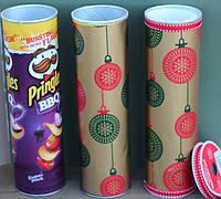 Как сделать подарочную упаковку из пачки Pringles?
