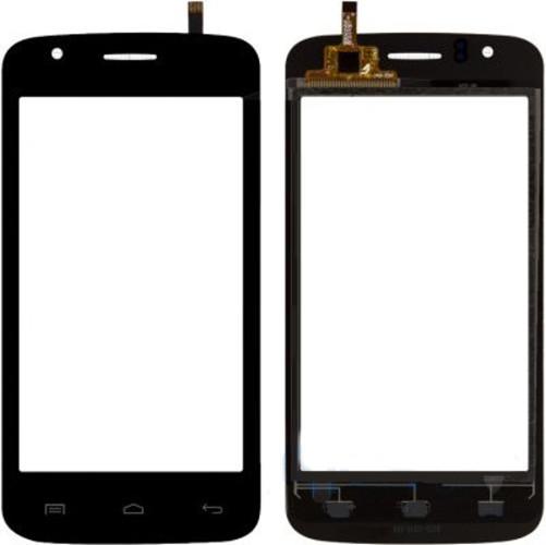 Сенсорный экран Explay Atom черный (тачскрин, стекло в сборе), Сенсорний екран Explay Atom чорний (тачскрін, скло в зборі)