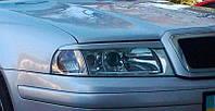 Реснички на фары Skoda Octavia Tour (1997-2009) стеклопластик (под покраску) Orticar