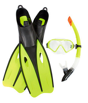 Набор для плавания BW (25022) маска, трубка, ласты, 2 вида, фото 1