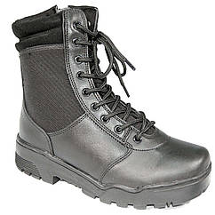 Ботинки MIL-TEC тактические кожа/кордура на молнии чёрные 12822000  черный, 40 (12822000 40), Герман
