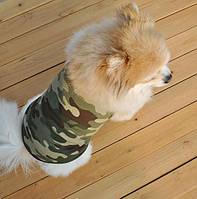 Жилетка стильная для маленьких собак хаки