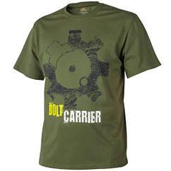Мужская хлопковая футболка T-Shirt Helikon Bolt Carrier - US Green (TS-BCR-CO-29) L (TS-BCR-CO-29 (L