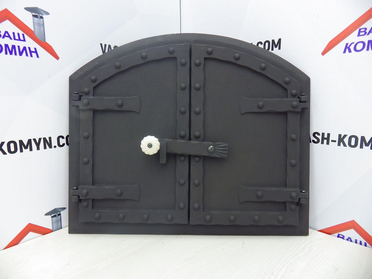 Дверца чугунная для духовки (58х50 см/46х37 см)