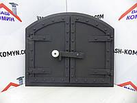 Дверца чугунная для духовки (58х50 см/46х37 см), фото 1