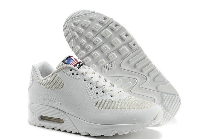 Мужские кроссовки Nike Air Max 90 Hyperfuse USA белые - Обувь и одежда с  доставкой по 46020cbad8e