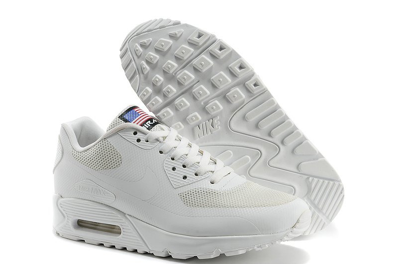 1ed3fcc0 Мужские кроссовки Nike Air Max 90 Hyperfuse USA белые - Обувь и одежда с  доставкой по