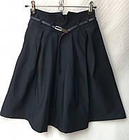 Школьная подростковая юбка для девочки от 9 до 14лет,темно синего цвета , фото 1