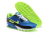 Мужские кроссовки Nike Air Max 90 Hyperfuse синие с салатовым, фото 1