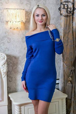 Теплое  платье дг в37