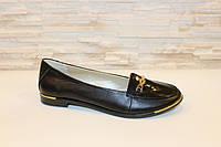 Туфли женские черные натуральная кожа Т371, фото 1
