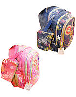 Рюкзак школьный GB1770P, ДЖИНС - 15&quot + пенал, 36х25х10 см. (24, 1, 24)