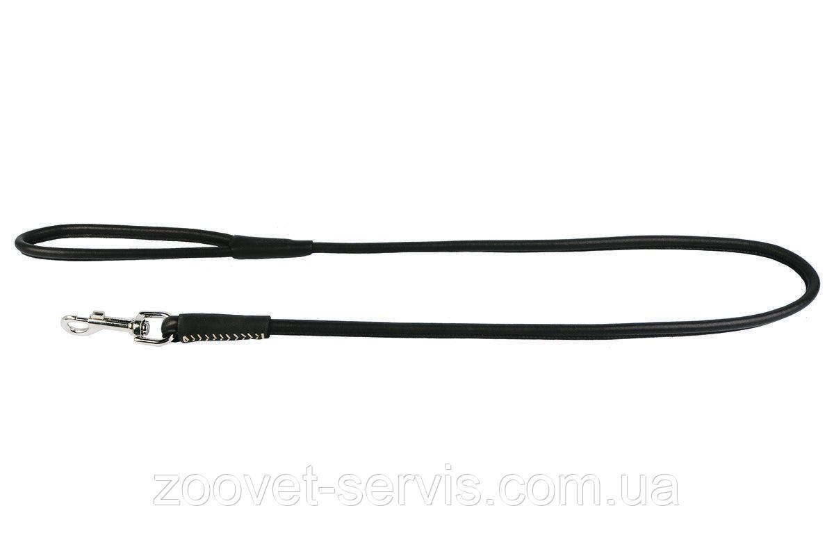 Круглый кожаный поводок КОЛЛАР СОФТ 122 см 8 мм 04831