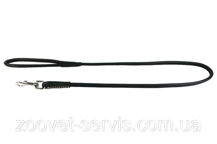 Круглый кожаный поводок КОЛЛАР СОФТ 122 см 8 мм 04831, фото 2